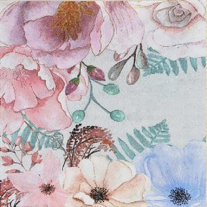 Baby Pink Colour Flower Decoupage Napkin