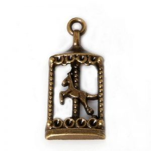 Antique Bronze Carousel Charm
