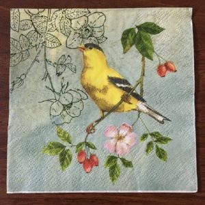 Goldfinch In The Tree Decoupage Napkin