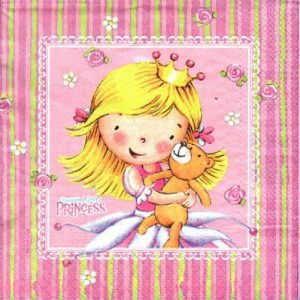 Little Princess Decoupage Napkin