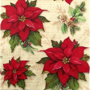 Traditional Flower Decoupage Napkin