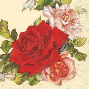 Red Roses Decoupage Napkin