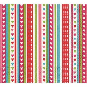 Lovely Stripes Decoupage Napkin