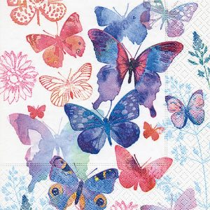 Blue Butterflies Decoupage Napkin