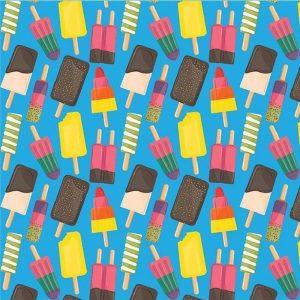 Ice Cream Stick Decoupage Napkin