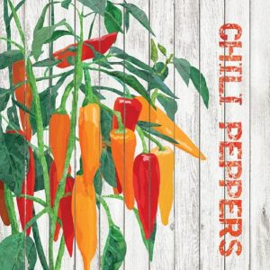 Chili Peppers Decoupage Napkin