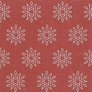 Starry Red Decoupage Napkin