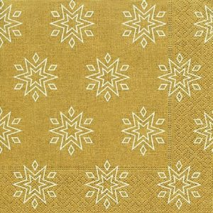 Starry Gold Decoupage Napkin