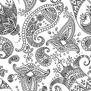 Paisley Black And White Decoupage Napkin
