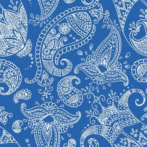 Paisley In Blue Background Decoupage Napkin