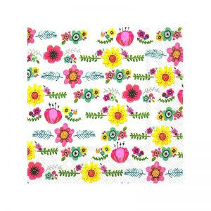 Happy Garland Decoupage Napkin