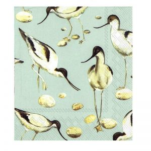 Avocet Bird Decoupage Napkin