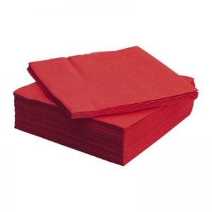 Plain Red Colour Decoupage Napkin