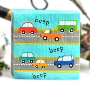 Mixed Vehicle Decoupage Napkin