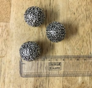 Big Size German Silver Round Beads