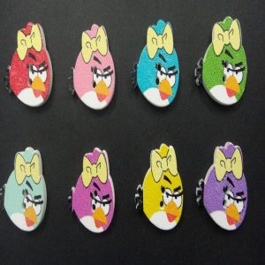 Angry Birds Wooden Buttons