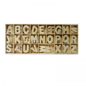 Natural Colour Wooden A To Z Letters