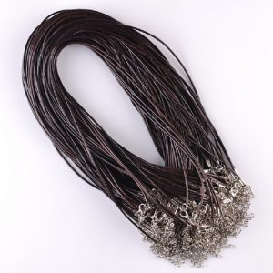 Brown Leather Necklace Cord