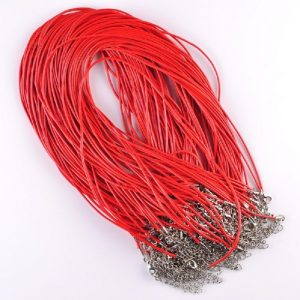 Red Leather Necklace Cord