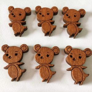 Country Mouse Wooden Buttons