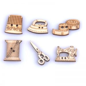 Natural Wood Sewing Craft Theme Set