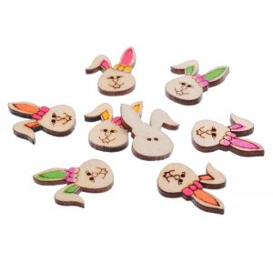 Bunny Face Wooden Buttons
