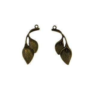 Antique Bronze Calla Lily Charm
