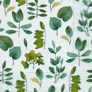 Fresh Green leaves Decoupage Napkin