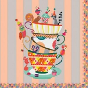 Tea Cups Decoupage Napkin