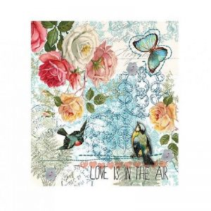 Love Is In The Air Decoupage Napkin