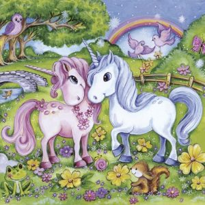 Two Unicorns Decoupage Napkin