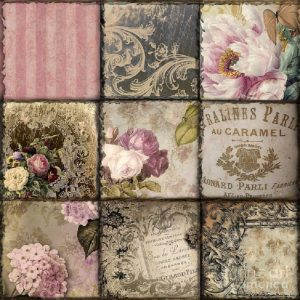 Paris Vintage Collage Decoupage Napkin