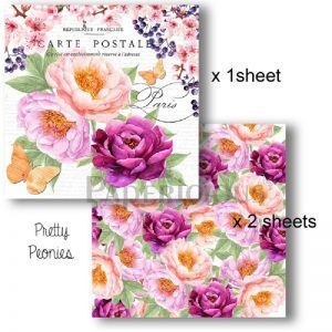 Papericious Decoupage Papers - Pretty Peonies
