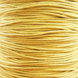 Light Yellow Waxed Cotton Cord