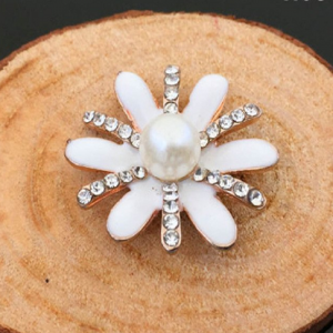 Rhinestone and Pearl Flower Embellishment