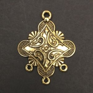 Gold Pendant - Tribal Pattern
