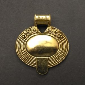 Gold Pendant - Oval