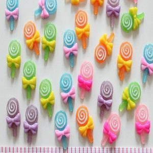 Swirl Lollipop Resin Embellishment