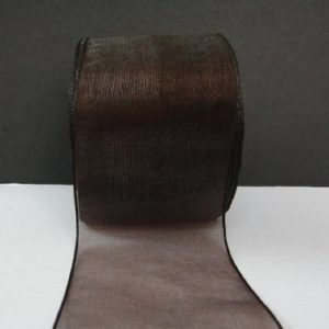 Coffee Brown Organza Ribbon