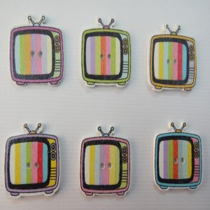 Old Model TV Wooden Buttons