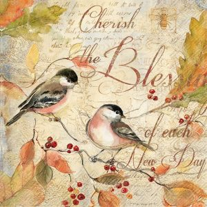 Cherish The Blessings And Each Day Decoupage Napkin