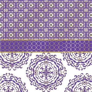 The Purple Mosaic Decoupage Napkin
