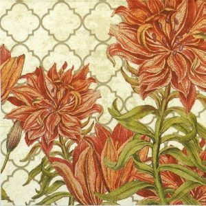 The Exactic Flower Decoupage Napkin