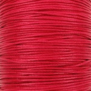 Red Waxed Cotton Cord