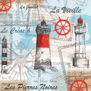 Sea Breeze Lighthouse Decoupage Napkin