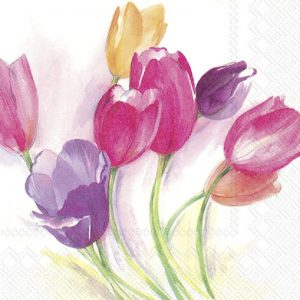 The Bunch Of Tulips Decoupage Napkin