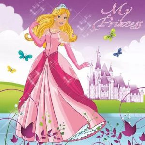 Beautiful Princess Decoupage Napkin