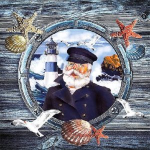 Captain Decoupage Napkin