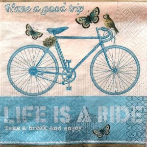 Life Is A Ride Decoupage Napkin