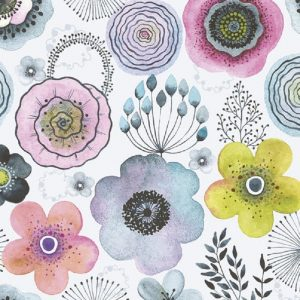 Mixed Colour Water Flowers Decoupage Napkin